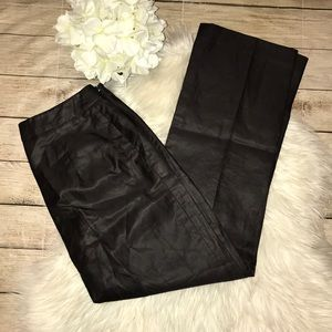 Max Mara  Brown Silk Blend Wide Leg Trouser Pants